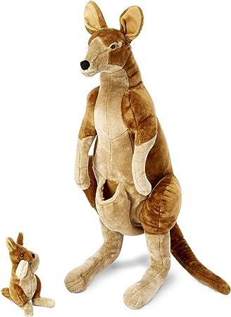 Wood Animal Toy Wallaby Kangaroo