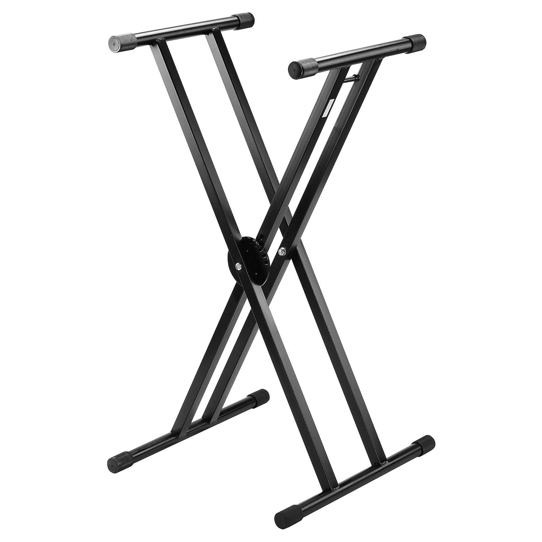 eSecure hochwertiger Keyboardständer doppelt X-Gestell schwarz ...