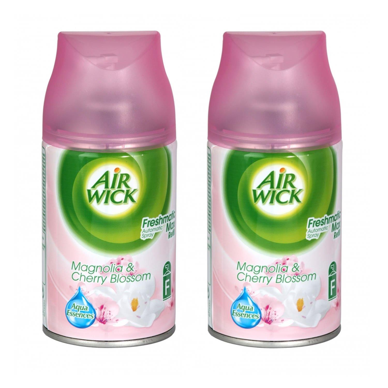 Air Wick Freshmatic Spray e ricarica, motivo: Magnolia, colore: rosso ciliegia (Confezione da 2) Reckitt