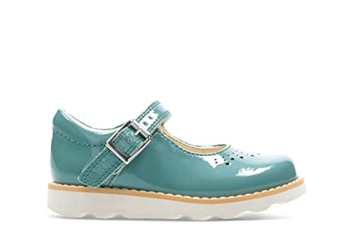 58873f758aea Clarks Crown Jump Toddler Leather Shoes in Teal  Amazon.co.uk  Shoes ...