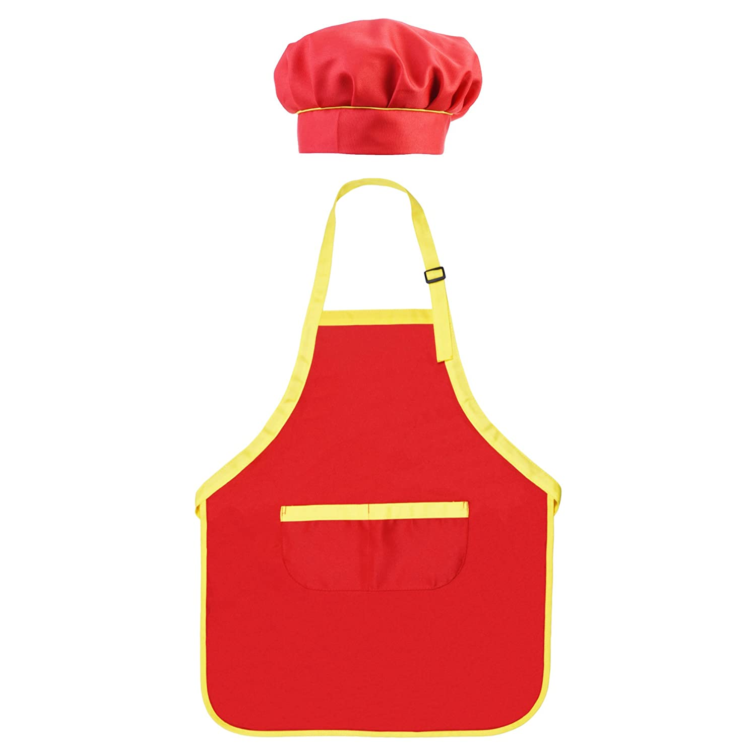 BCP Children Kids Waterproof Art Craft Smock Apron and Chef Hat Set for DIY Painting Drawing Cooking
