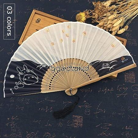 Abanico Plegable De Mano,Ventilador De Bambú Del Verano Hueco Flor De Cerezo Animal Gato Retro Estilo Chino Regalo De Las Señoras Ventilador Plegable Decoración De La Pared Ventilador De La Dan: Amazon.es:
