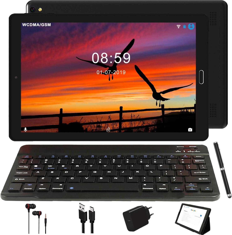 Tablet 10 Pulgadas GOODTEL 4G Android 8.0 Negro Tablets PC con 3GB RAM + 32GB ROM y 8000mAh Batería & 5.0 MP + 8.0 MP HD la Cámara , Dobles SIM y TF Card Apoyo Tablet (WI-FI,GPS Bluetooth,FM Radio