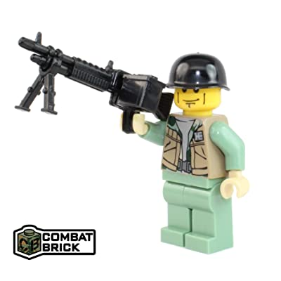CombatBrick Vietnam War US Army Machine Gunner - Custom Army Builder Minifigure: Toys & Games