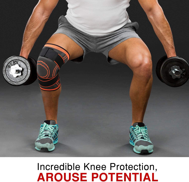 Estabilizador de Rodillera Ajustable con Soporte de Correa para Baloncesto Alivio del Dolor Artritis Recuperaci/ón de Lesiones MoKo Rodillera de Compresi/ón Transpirable