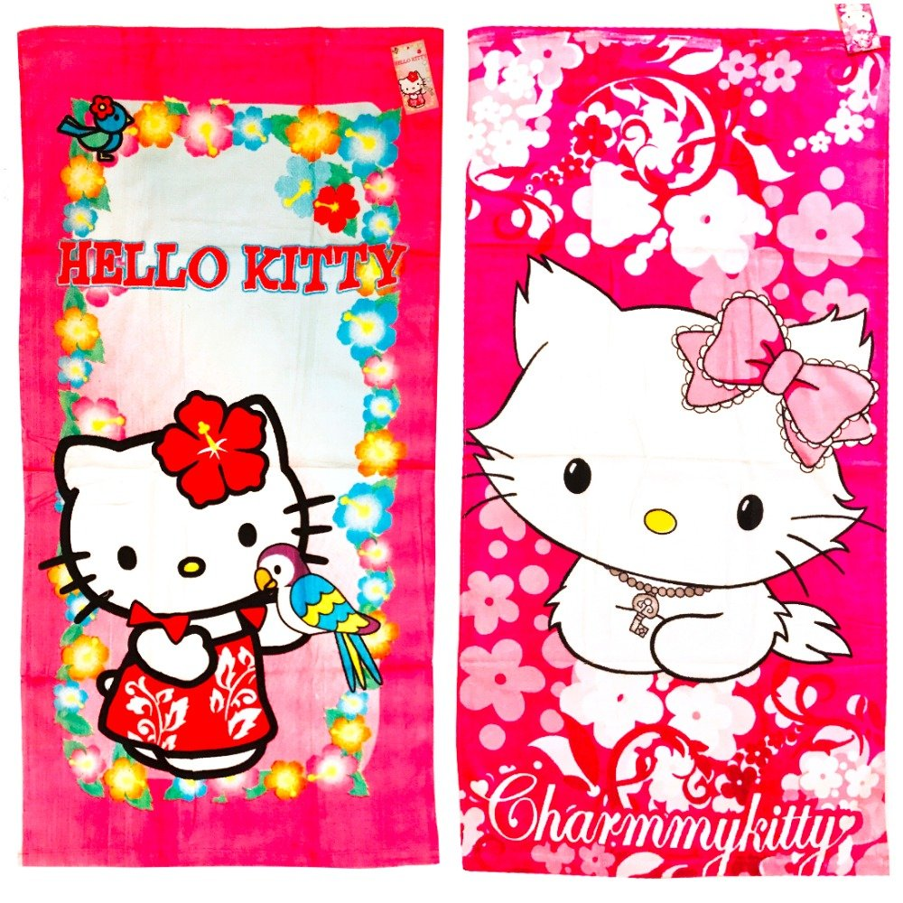 2 Piece Hello Kitty Terry Bath Towel Set, 20X40