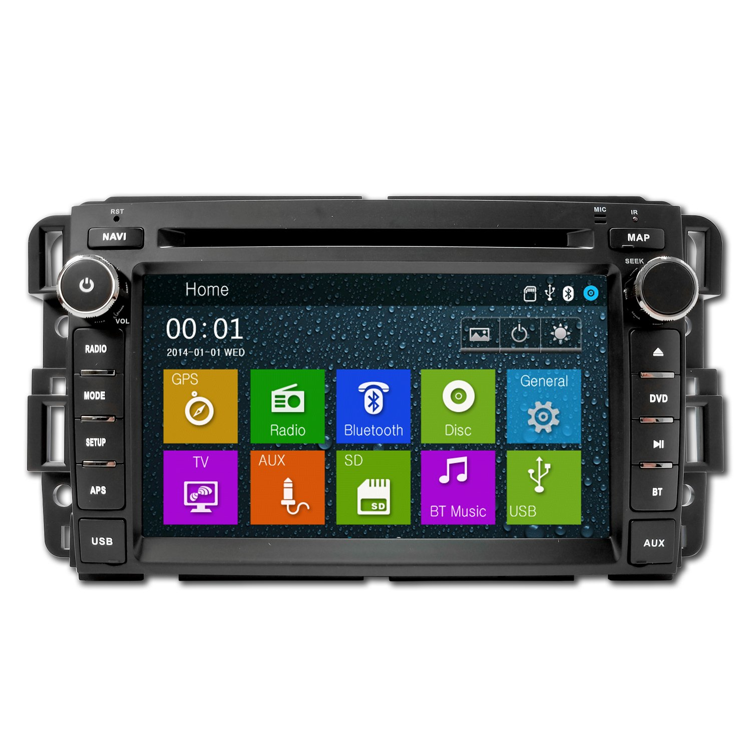 amazon com: ottonavi gmc acadia 07-11 oem fitment oem replacement in dash  double din touch screen ipod dvd gps navigation radio: cell phones &  accessories