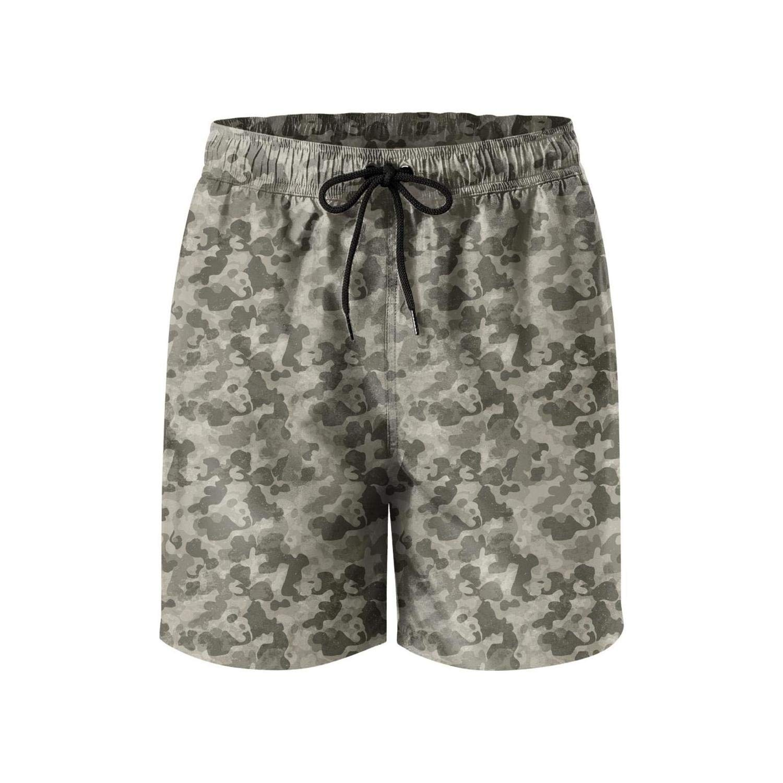 LHSCVUFASC Colorful camo Men Beach Shorts Summer Funny Beach Shorts Swim