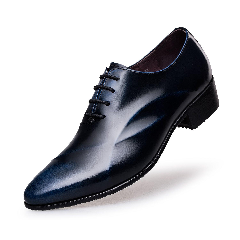ZRO Men's Lace Up Formal Modern Oxford Dress Shoes Blue US 7 by ZRO