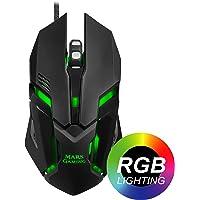 Mars Gaming MRM0 - Ratón PC, 4000DPI, óptico, iluminación RGB Flow, 6 botones