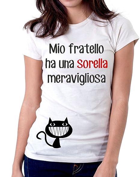 T Shirt Sorella Meravigliosa Fratello Donna S M L Xl Xxl Maglietta