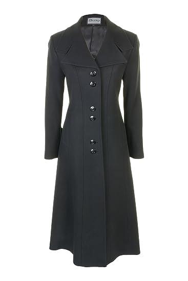 9acba842dff1 Busy Clothing Womens Black Long Wool Blend Coat  Amazon.co.uk  Clothing