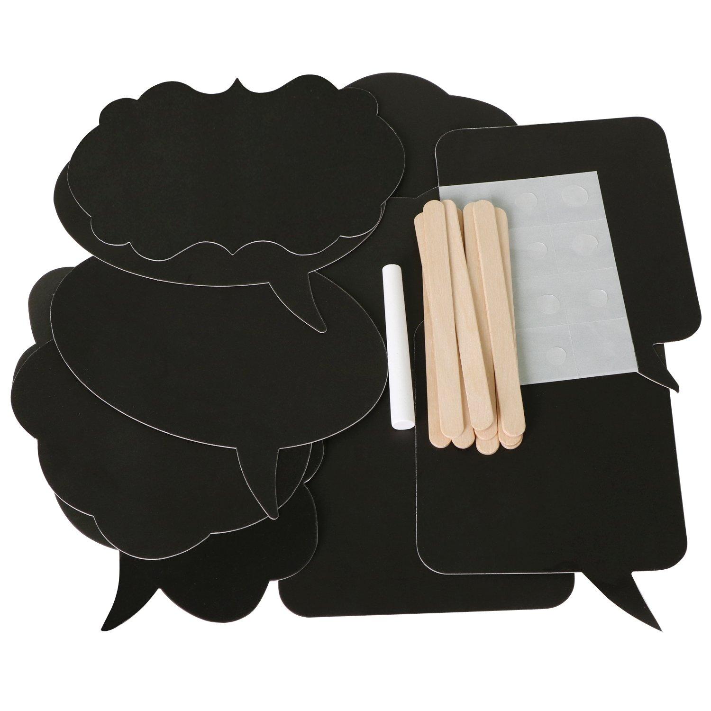 TRIXES 10 Pizarras con Bocadillos de Discursos - Tarjetas Surtidas para Hacer uno Mismo - Pequeño - Ideal para Usar como Indicadores para Comida o ...