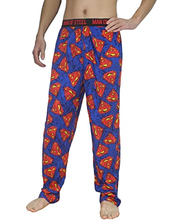 Mens SUPERMAN (MAN OF STEEL) Cotton Sleepwear   Pajama Pants S Multicolor b63804580