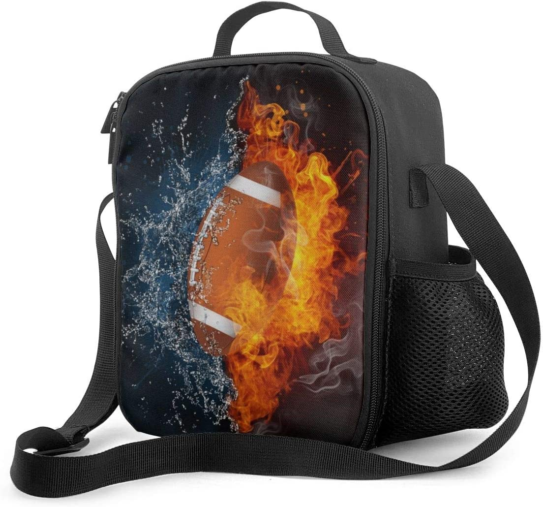 Holder Insulated Cooler Reusable Ice Packs For School Lunch Boxes Lunch Tote Food Storage Bag Ice Fire Football Basketball Boys Girls