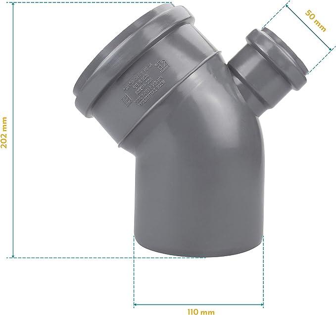 90/° Top Bogen Kunststoff HT-Rohr Installation Abwasser 110 x 50 mm 45/° 90/° Grau NEU