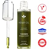 Hemp Oil for Pain & Anxiety Relief - 1000mg - Natural Anti Inflammatory & Joint Support. Improves Sleep Quality & Mood. Grown & Made in The USA. Herbal Drops - Peppermint Flavor (1 FL oz).