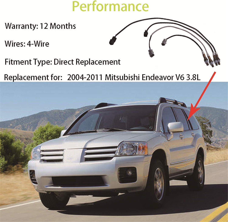 WFLNHB 4Pcs Oxygen O2 Sensors Replacement for 2004-2011 Mitsubishi Endeavor V6 3.8L