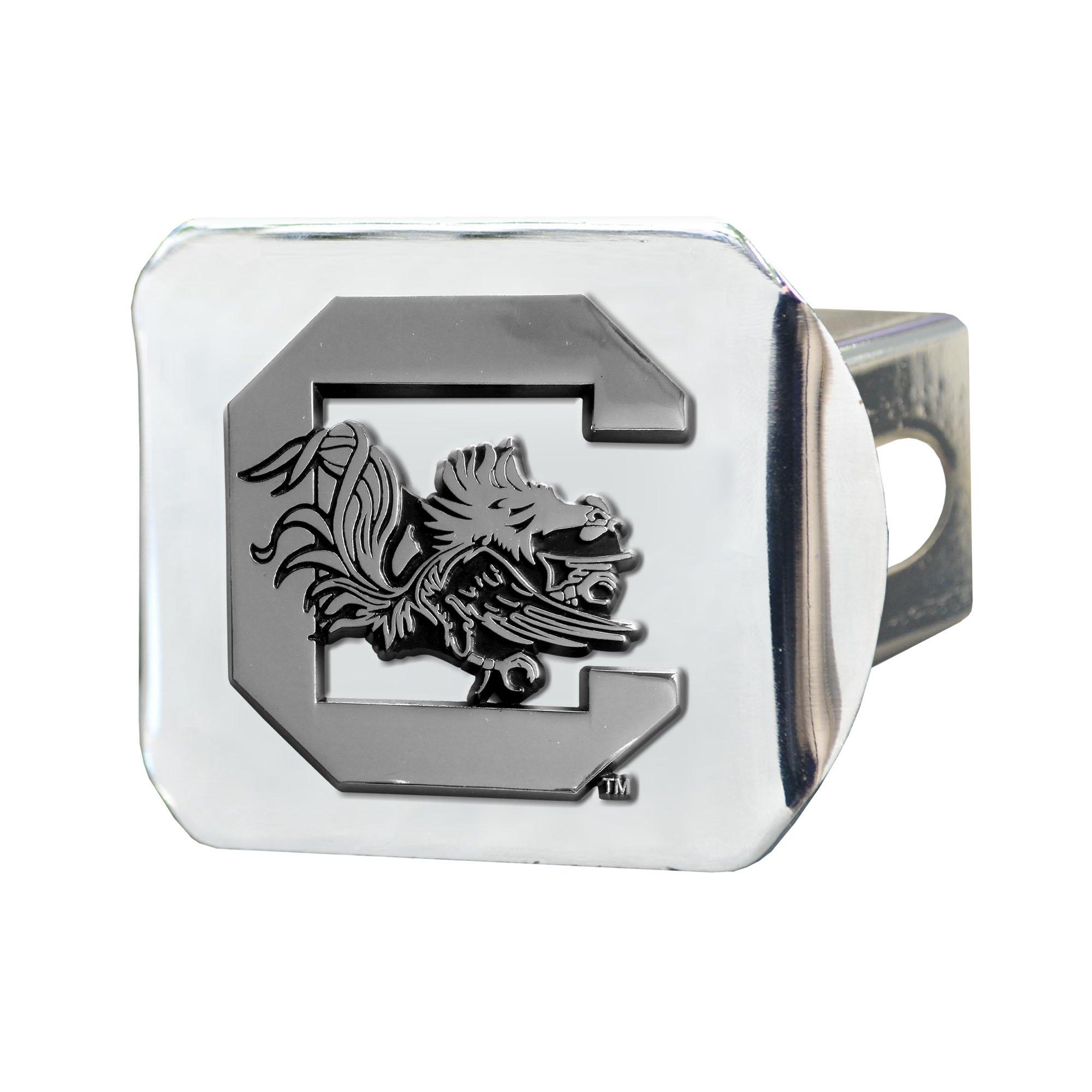 FANMATS NCAA University of South Carolina Gamecocks Chrome Hitch Cover