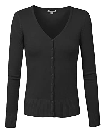 J. LOVNY Womens Basic Casual Light V Neck Button Down Cardigan Sweaterr  S-3XL at Amazon Women s Clothing store  773ee2622