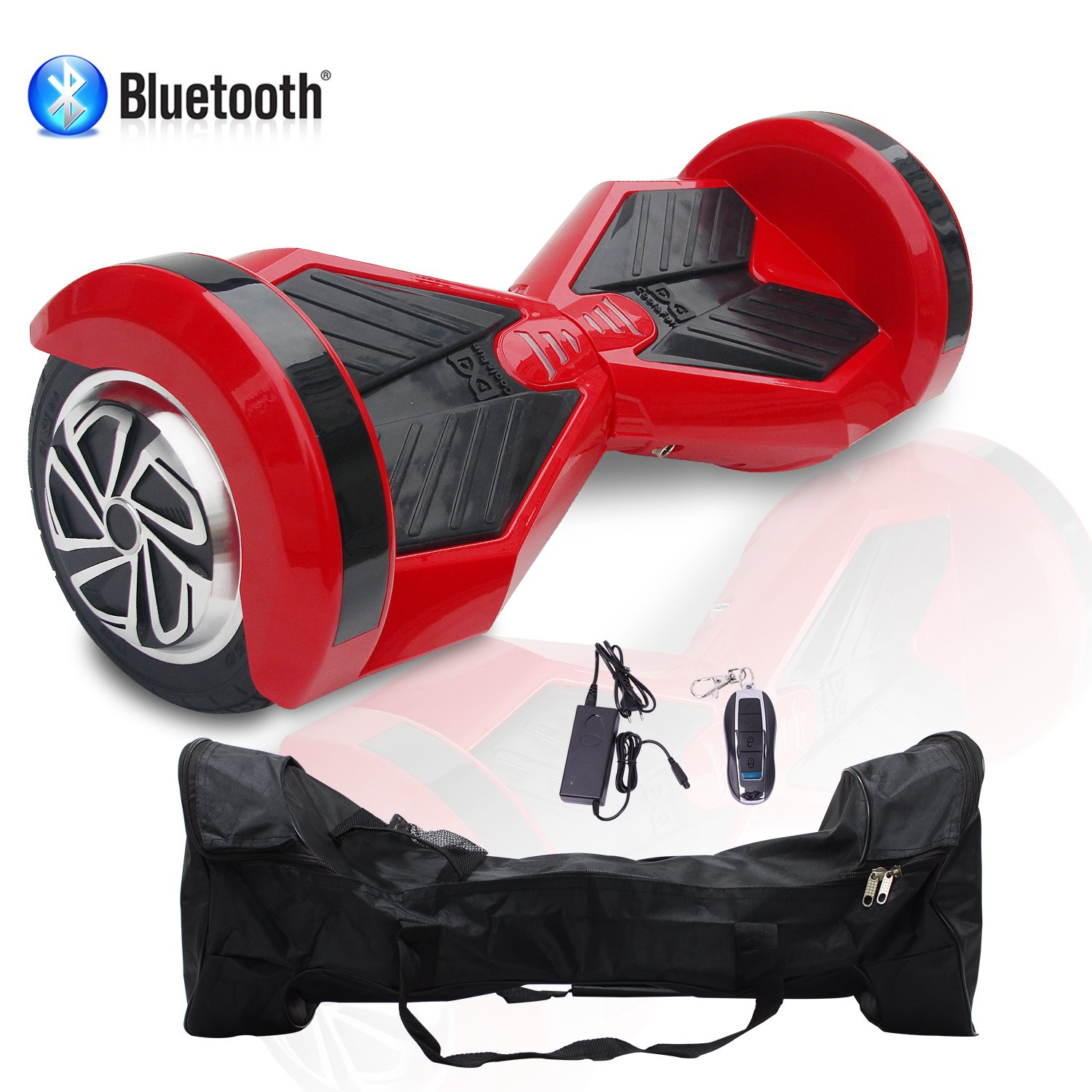 COLORWAY Smart Scooter Electric Auto Balance Hoverboard 8 Inch Self Balancing with Bluetooth /& LED Self Balance E-Skateboard