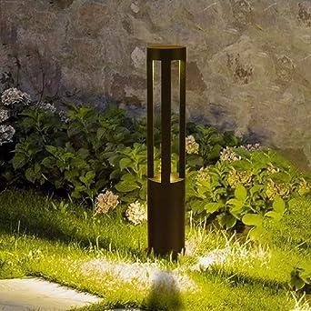 7W LED Lámpara de columna al aire libre Moderna Villa creativa Pasillo Exterior Patio Valla Jardín de césped IP55 Impermeable Bolardo de aluminio Pilar Luz Césped Paisaje Calle Linterna: Amazon.es: Iluminación