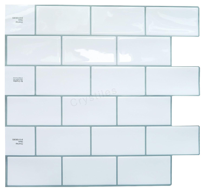 amazon com tic tac tiles premium anti mold peel and stick wall
