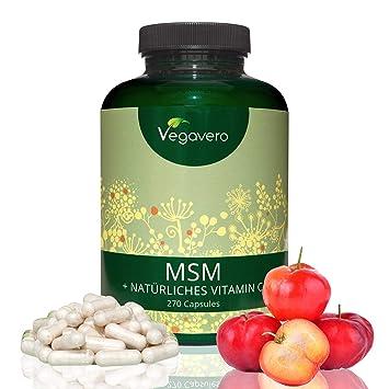 MSM 2100 mg con Vitamina C Natural | 99,9% PURO | Articulaciones y