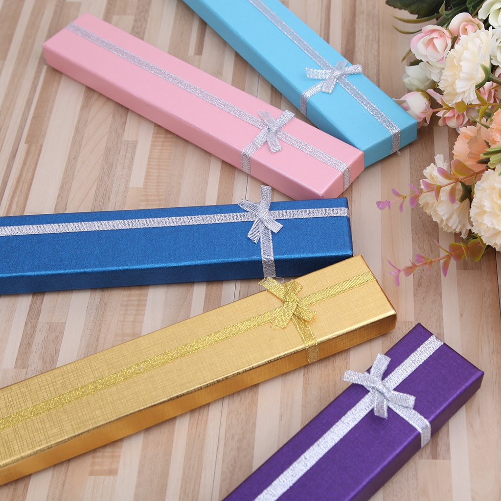 Forgun Hand Fan Packing Box for Anniversary Birthday High End Colorful Gift Packing Box (Deep Blue) by Forgun (Image #5)
