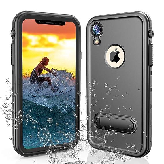 online retailer 3b1e5 14074 iPhone XR Waterproof Case, Sydixon iPhone XR Case Waterproof Shockproof  Snowproof 6.1 inch 2018 Release (Black)