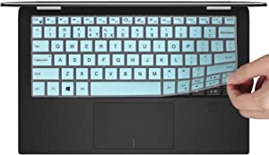 "CaseBuy Keyboard Cover Compatible 2019 DELL XPS 13 9380 & 2018 DELL XPS 13 9370 & 2017 Dell XPS 13 9365 13.3"" Laptop Ultra Thin Anti Dust Keyboard Protective Skin, Mint Green"