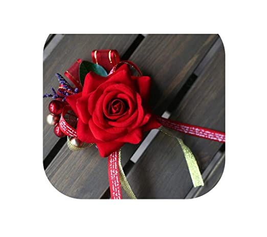 Accesorios Burgundy Vino Rojo Rosa Novio Boutonniere Hombres ...
