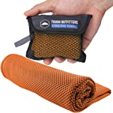 Cooling Towel - Neck Cooler Wrap for Summer Heat - Cool Bandana Scarf for Hot Weather Sports - Ice Towel Sweat Rag for Golf,