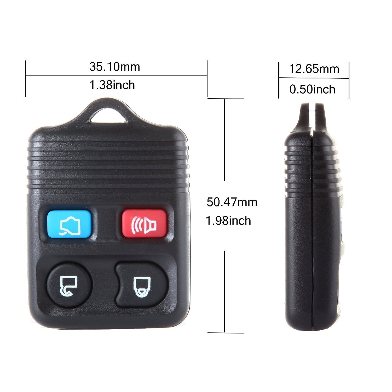 Pack of 1 ECCPP Replacement fit for Keyless Entry Remote Key Fob Transmitter Ford//Lincoln//Mercury Series CWTWBU331 CWTWB1U345 CWTWB1U322 GQ43VT11T