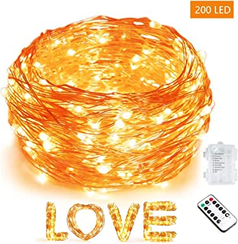 Warm White Plastic 65 LEDs Battery Operated LED Mini Light Rope for Outdoor use