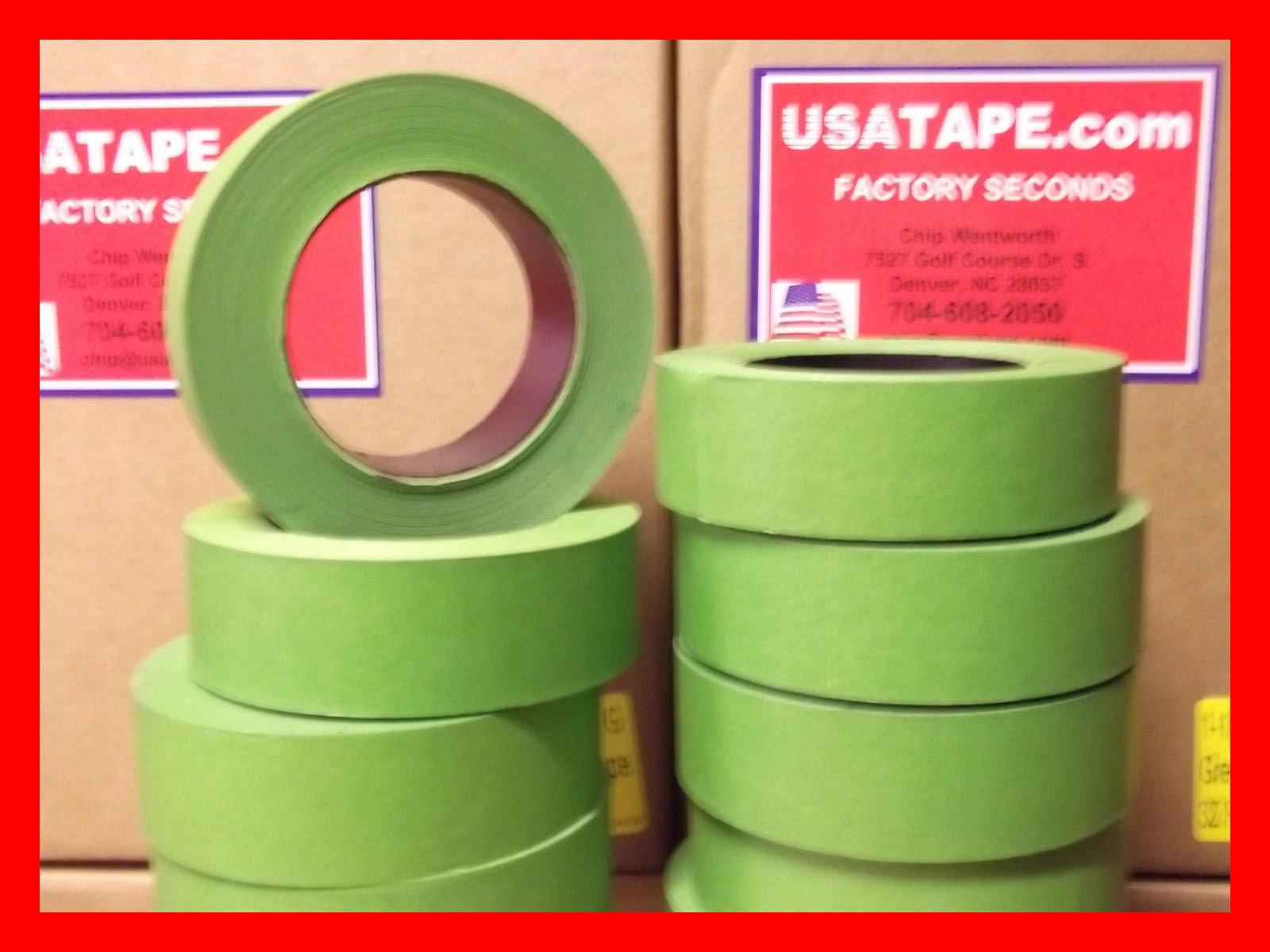 Lot Of 32 Rolls 1.5'' X 60 Yrds Green Painters Masking Tape Fine Edge