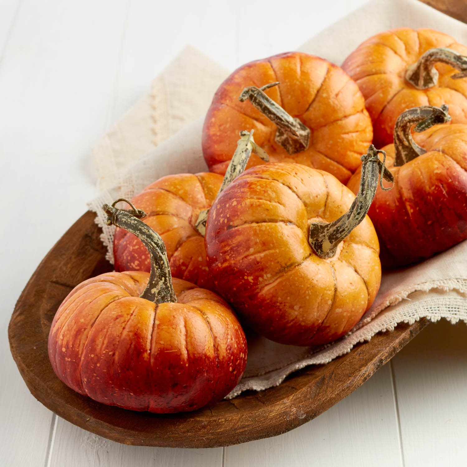 Factory Direct Craft Package of 6 Rustic Artificial Pumpkins for Halloween, Fall and Thanksgiving Decorating