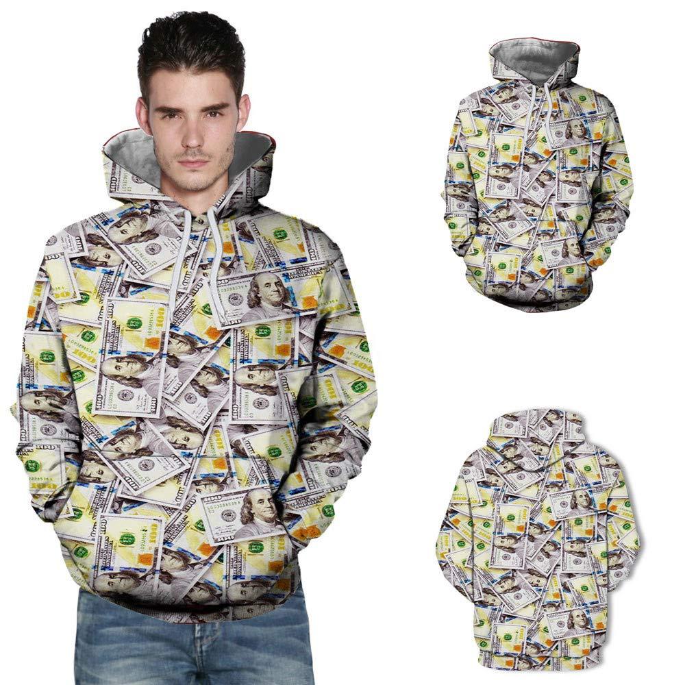 0697d92f69 Vêtements Yvelands Solde Homme lhiver Impression 3D Impression De ModèLe  Pull à Capuche Top Chemise Blouse ...
