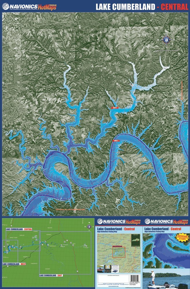Amazon.com: Lake Cumberland Fishing Map Bundle: Navionics Premium ...