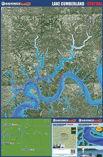 Amazoncom Navionics Paper Map Lake Cumberland Central - Kentucky lakes map