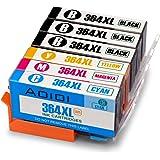 Aoioi 364XL Compatible pour Cartouches HP 364XL, 3 Noir/Cyan/Magenta/Jaune Pack de 6 Travailler avec HP Photosmart 5520 6520 5510 6510 5515 Premium B109 B110 Officejet 4620 4610 Deskjet 3070A 3520