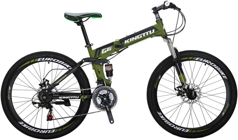 Eurobike 26 Inch Mountain Bike Folding Bicycle 21 Speed 3 Colors