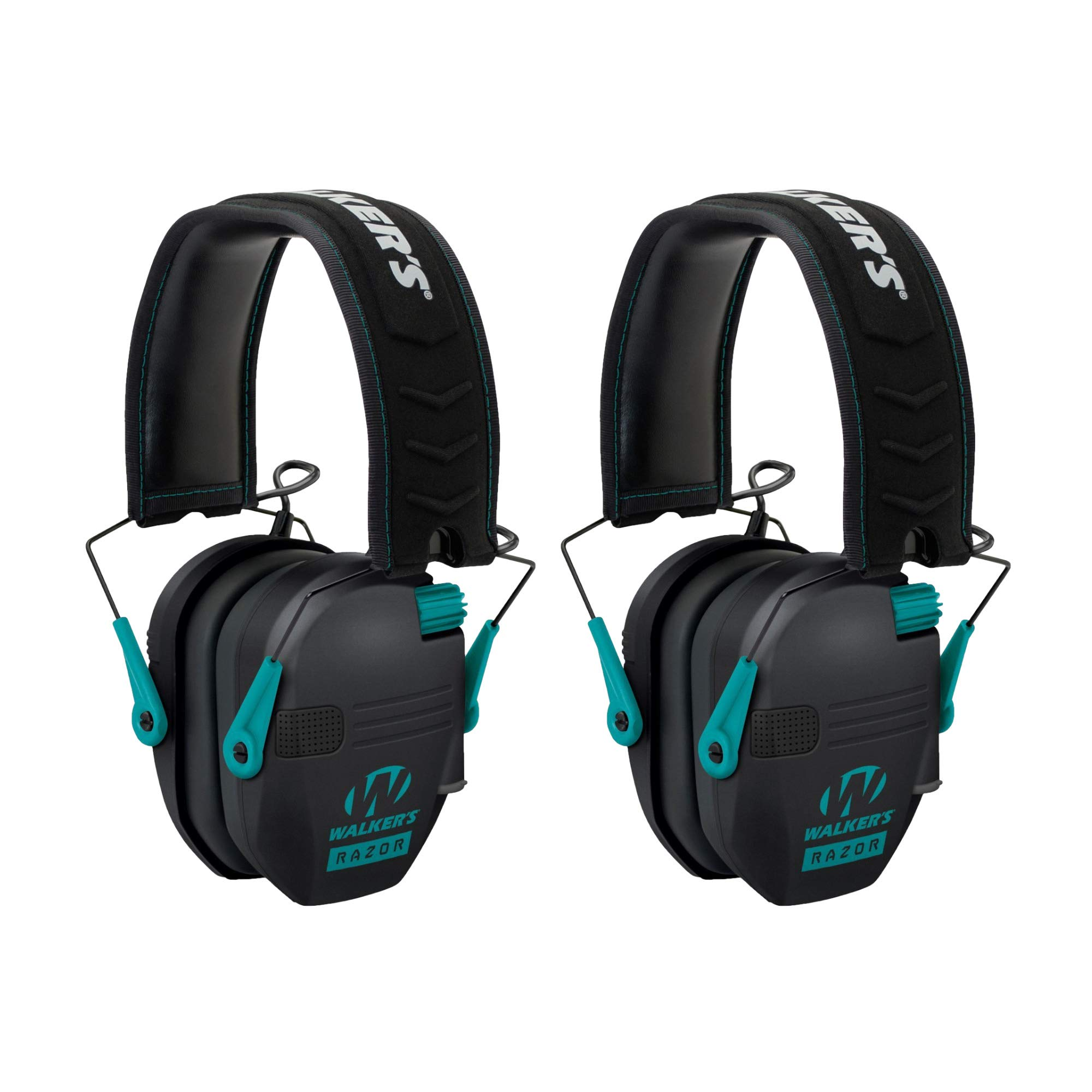 Walkers Razor Slim Electronic Shooting Muffs 2-Pack, Teal (2 Items) by Walker's Game Ear