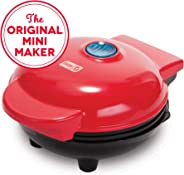 Dash DMS001RD Mini Maker Electric Round Griddle for Individual Pancakes, Cookies, Eggs & other on the go Breakfast, Lunch &