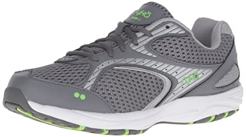 Ryka Women's Dash 2 Walking Shoe, Grey/Silver/Lime, 5 M US