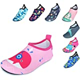 BFOEL Kids Water Shoes for Toddler Boys Girls Big Kids Water Shoes Swim Socks Quick Dry Non-Slip Water Beach Aqua Sports Shoe