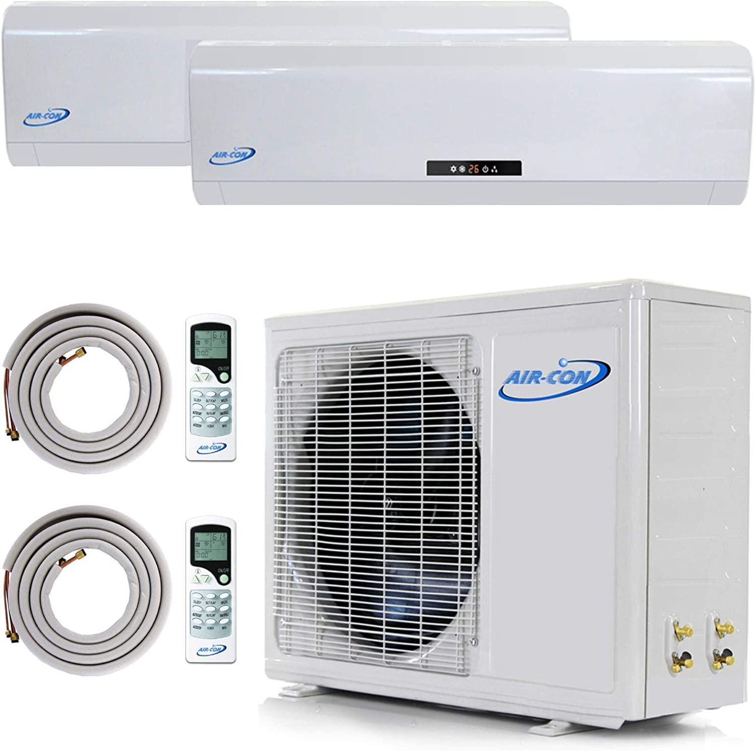 Amazon Com 2 Zone Mini Split 9000 9000 Ductless Air Conditioner Pre Charged Dual Zone Mini Split Includes Two Free 25 Linesets Premium Quality Usa Parts Awesome Support Home Kitchen