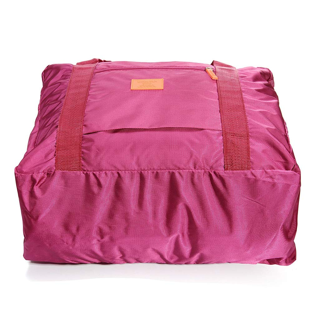 Burgundy Color Durable Portable Travel Bag Nylon Waterproof Storage Bag Organizer For Shoes Clothes Luggage Case High Capacity Suitcase Tote