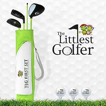 The Littlest Golfer Clubset: Kids Golf Clubs w/Golf Grips That Teach Proper  Swing Technique