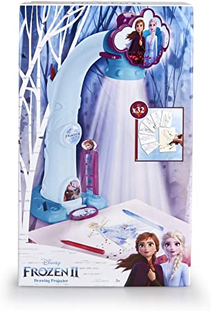 Proyectar, dibuja y colorea tus personajes favoritos de Frozen 2,Se incluyen fondos para recrear bon